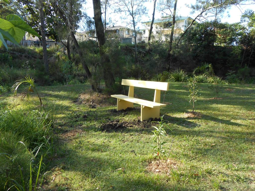I have made a bench seat for people to sit and enjoy the peace and quite.